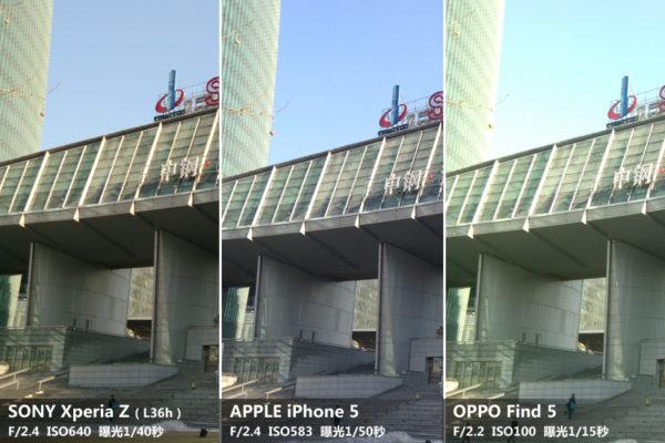 Kamerajämförelse mellan Sony Xperia Z, Oppo Find 5 och iPhone 5