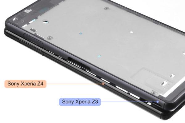 Fotografier på chassit för Sony Xperia Z4