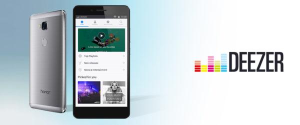 Deezer och Huawei inleder samarbete – tjänsten förinstalleras på alla Honor-modeller