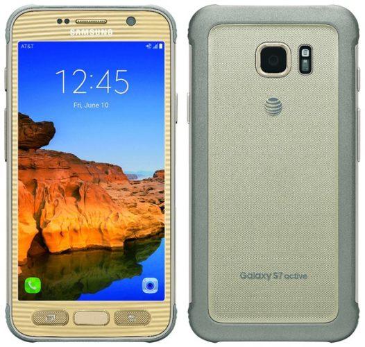 Samsung Galaxy S7 Active påträffas i guldskrud
