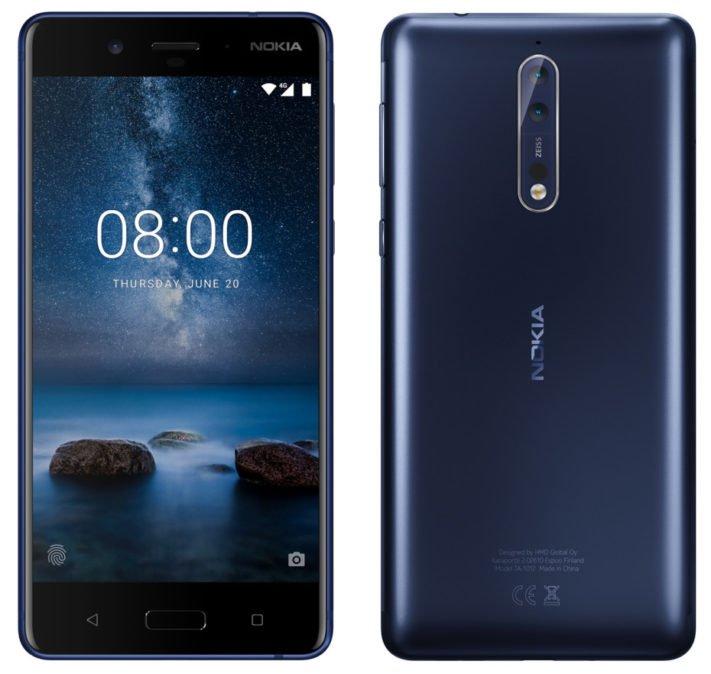 Dubbla bakre Carl Zeiss-kameror i flaggskeppet Nokia 8?