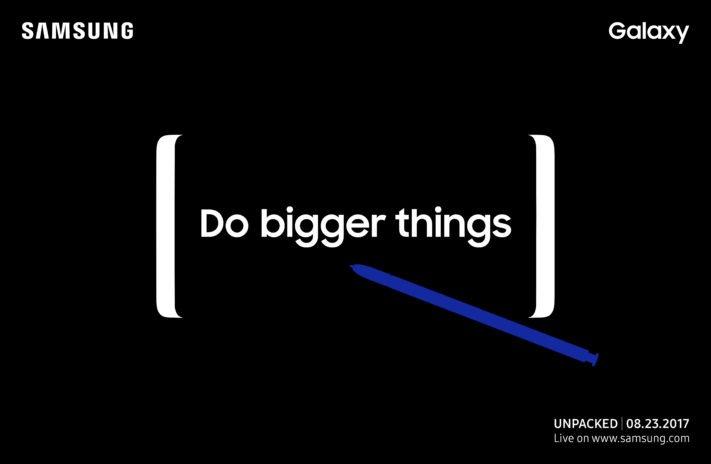 Samsung Galaxy Note 8 presenteras 23 augusti
