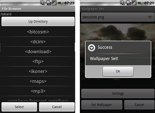 WSS - Mappbrowser och dialogfönster