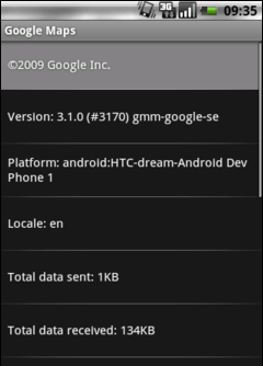 Google Maps 3.10 - About