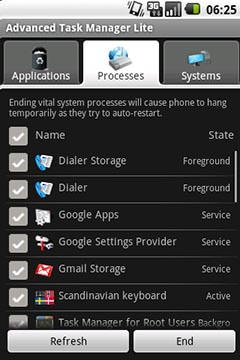 Advanced Task Manager Lite - Processes