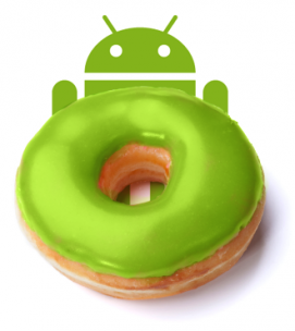 The green donut droid