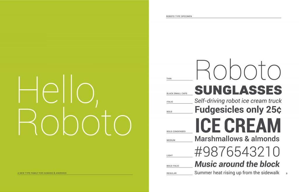 Androids nya font Roboto