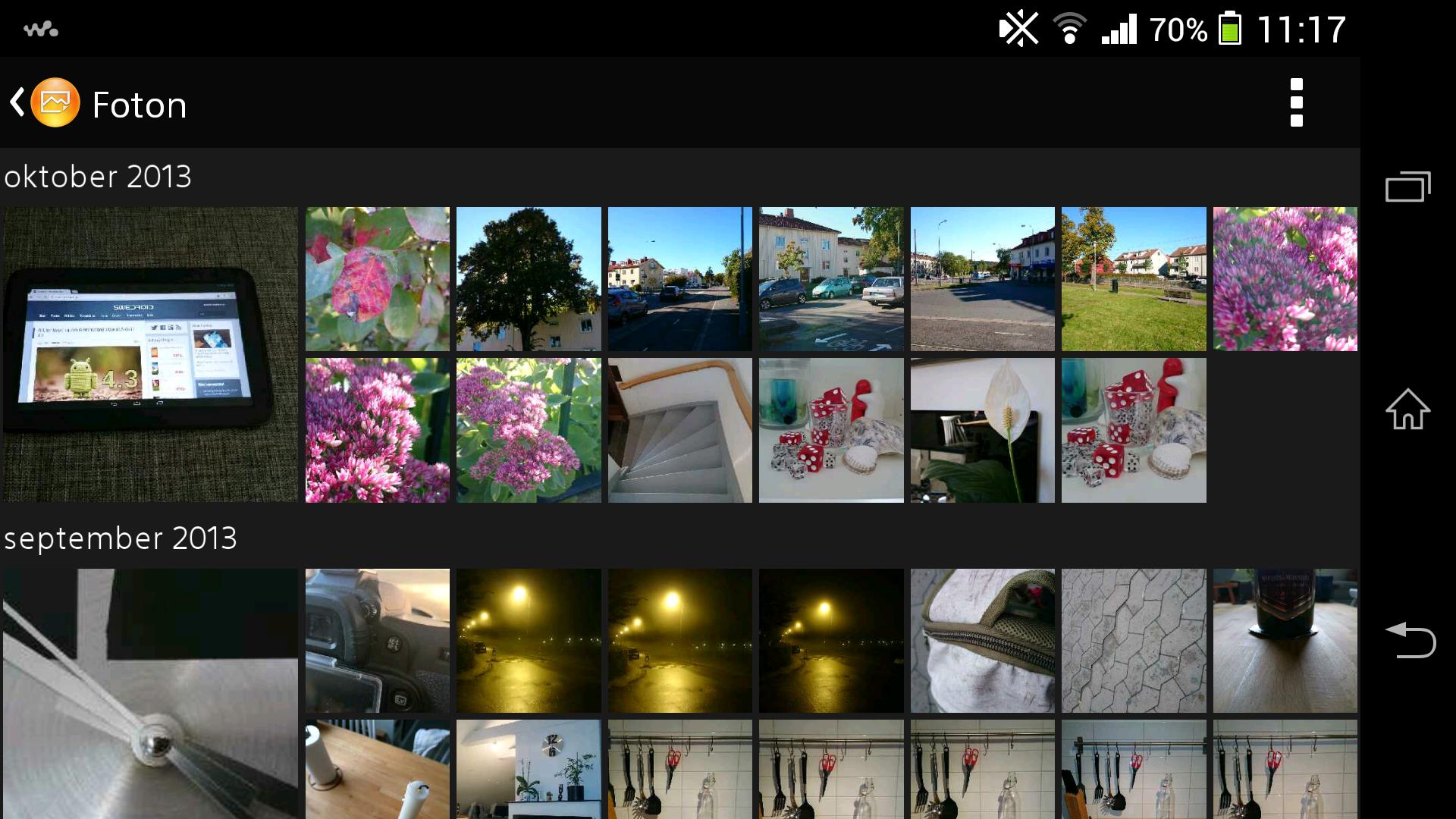 sony xperia how to take screenshot