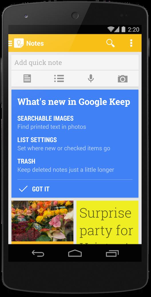google-keep-uppdatering