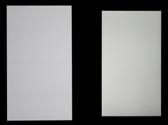 Maximal ljustyrka, Huawei Nexus 6P till vänster mot LG Nexus 5X till höger.