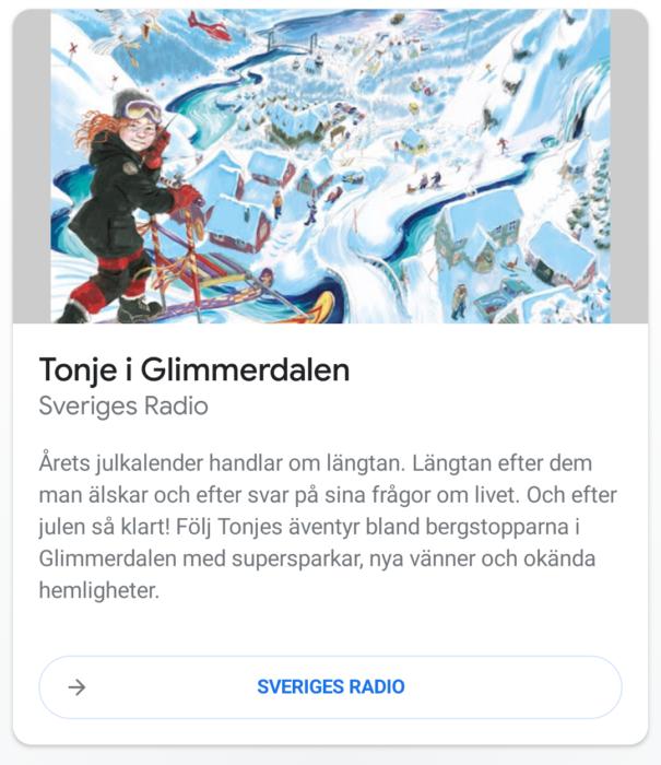 SR har skapat små röststyrda juläventyr för Google-assistenten