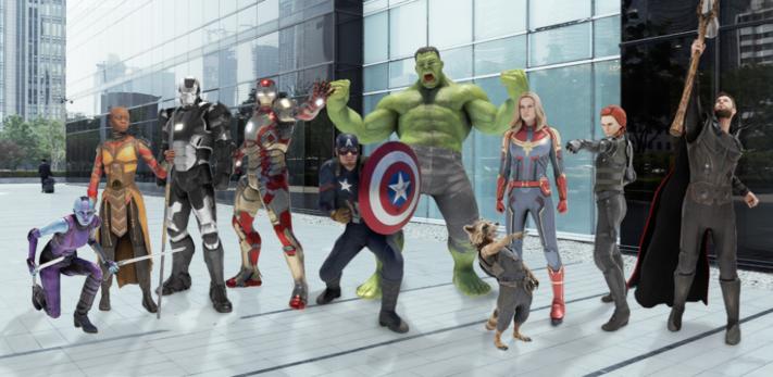 Förstärkta verkligheten i Pixel-telefoner får fler Marvel-figurer
