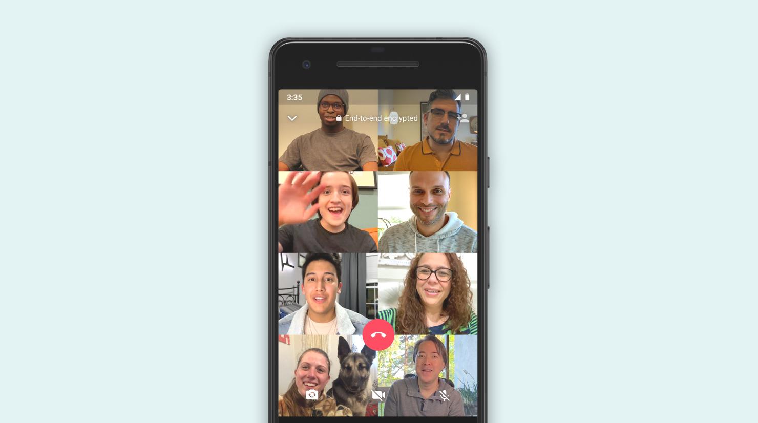 Nu stödjer WhatsApp videosamtal med åtta deltagare