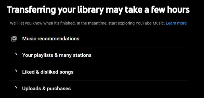 Fler kan nu överföra bibliotek från Play Music till YouTube Music