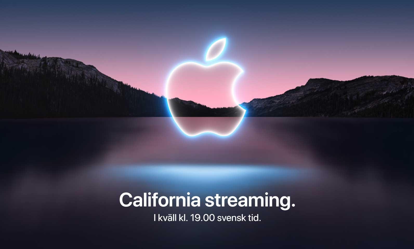 Här kan du följa kvällens presentation av Iphone 13 samt Watch 7