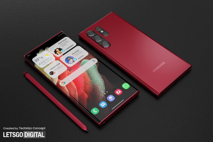 Konceptbilder på Samsung Galaxy S22 Ultra